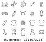 tailor shop icons black   white ... | Shutterstock .eps vector #1815073295