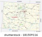 colorado national park map - stock vector