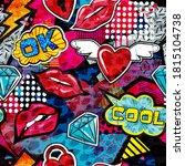 abstract bright graffiti... | Shutterstock .eps vector #1815104738