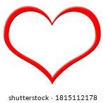 red heart frame. texture for... | Shutterstock . vector #1815112178