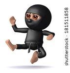 3d Render Of Ninja Doing A...