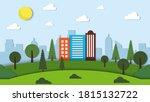 flat design world habitat day... | Shutterstock .eps vector #1815132722