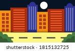 modern urban buildings... | Shutterstock .eps vector #1815132725