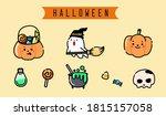 Happy Halloween Cute Flat...
