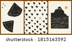 set of three abstract... | Shutterstock .eps vector #1815163592