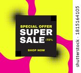 super sale banner. abstract...   Shutterstock .eps vector #1815164105