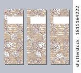 three cards. european larch... | Shutterstock .eps vector #1815164222