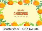 happy chuseok background vector ... | Shutterstock .eps vector #1815169388