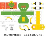 cut and glue robot toy vector... | Shutterstock .eps vector #1815187748