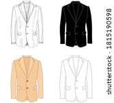 sketch  men's jacket on a white ... | Shutterstock .eps vector #1815190598