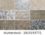 set of grey old stone pavement... | Shutterstock . vector #1815193772