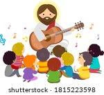 illustration of stickman kids... | Shutterstock .eps vector #1815223598