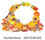 Harvest Wreath  Border With...
