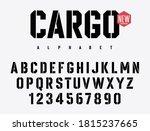 stencil alphabet. stencil plate ... | Shutterstock .eps vector #1815237665