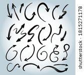 hand drawn arrow vector icons... | Shutterstock .eps vector #1815271178