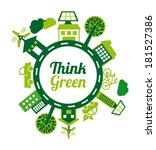 eco energy design over white... | Shutterstock .eps vector #181527386