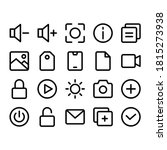 user interface icon set with...