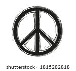 grunge peace symbol.dirty peace ... | Shutterstock .eps vector #1815282818