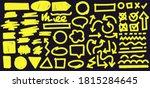 highlight marker lines on black ...   Shutterstock . vector #1815284645