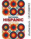 national hispanic heritage...   Shutterstock .eps vector #1815288992