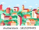 vector geometric minimalist... | Shutterstock .eps vector #1815299495