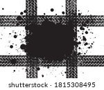 grunge dirty black banner with... | Shutterstock .eps vector #1815308495