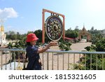 Tourists At Wat Tham Khuha...