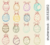 simple easter egg set | Shutterstock .eps vector #181532852