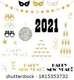 2021 new years eve vector... | Shutterstock .eps vector #1815353732