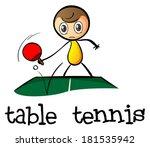 illustration of a stickman... | Shutterstock . vector #181535942