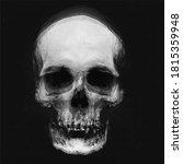 Scary Grunge Skull  Spooky...
