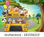 illustration of a bus full of... | Shutterstock . vector #181536215