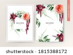 wedding invite card  tropical... | Shutterstock .eps vector #1815388172