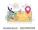 gps system  mapping of... | Shutterstock .eps vector #1815405338