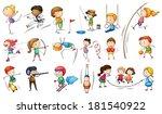 illustration of the kids... | Shutterstock . vector #181540922