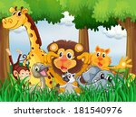 illustration of a forest with... | Shutterstock . vector #181540976