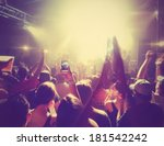 a crowd of people at a concert... | Shutterstock . vector #181542242