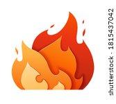 Fire Logo Paper Cut. Flame Icon ...