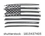 grunge paint brush american... | Shutterstock .eps vector #1815437405