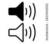 speaker vector icon isolated on ... | Shutterstock .eps vector #1815442052