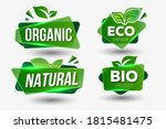 organic natural bio labels icon ... | Shutterstock .eps vector #1815481475