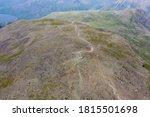 Aerial View Of Walkers On Top...