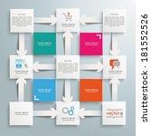 template rectangles design on... | Shutterstock .eps vector #181552526