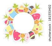 illustration of easter carrots... | Shutterstock .eps vector #181553402