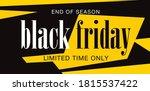 black friday sale banner layout ... | Shutterstock .eps vector #1815537422