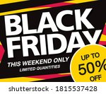 black friday sale banner layout ...   Shutterstock .eps vector #1815537428
