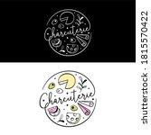 charcuterie board logo for... | Shutterstock .eps vector #1815570422