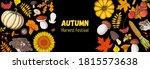 harvest festival. hello autumn... | Shutterstock .eps vector #1815573638