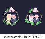 flat illustration wedding... | Shutterstock .eps vector #1815617822
