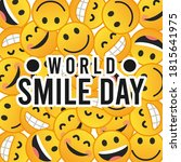 vector graphic of world smile... | Shutterstock .eps vector #1815641975